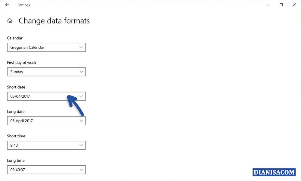 3 Mengganti Format Tanggal dan Waktu Windows 10