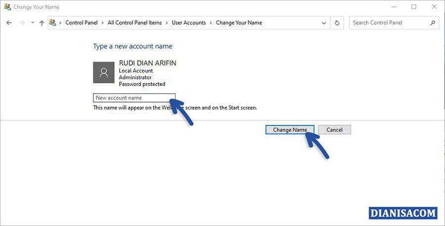 3 Mengubah Local Account Administrator Windows 10