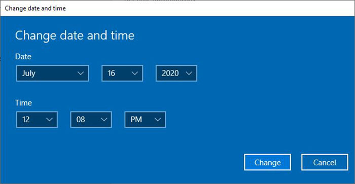 4 Melakukan Costum Waktu Windows 10