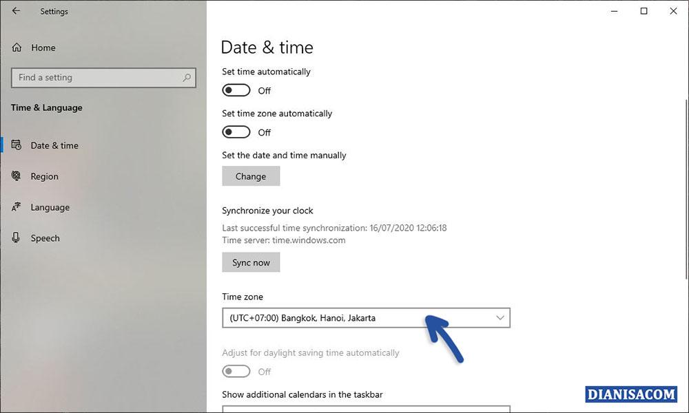 5 Memilih Zona Wilayah Windows 10