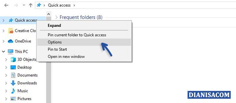 Membuka Quick Access Windows 10