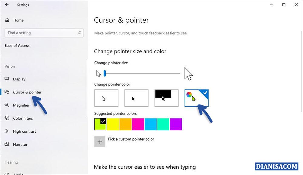 Mengubah Warna Pointer Kursor Windows 10