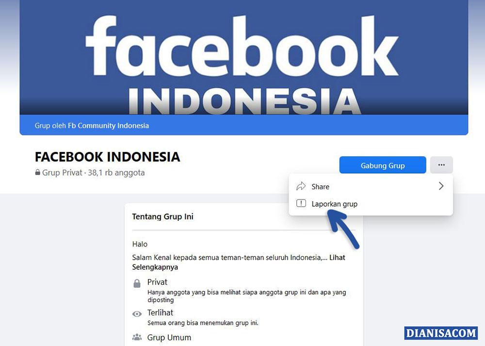 1 Laporkan Grup Facebook