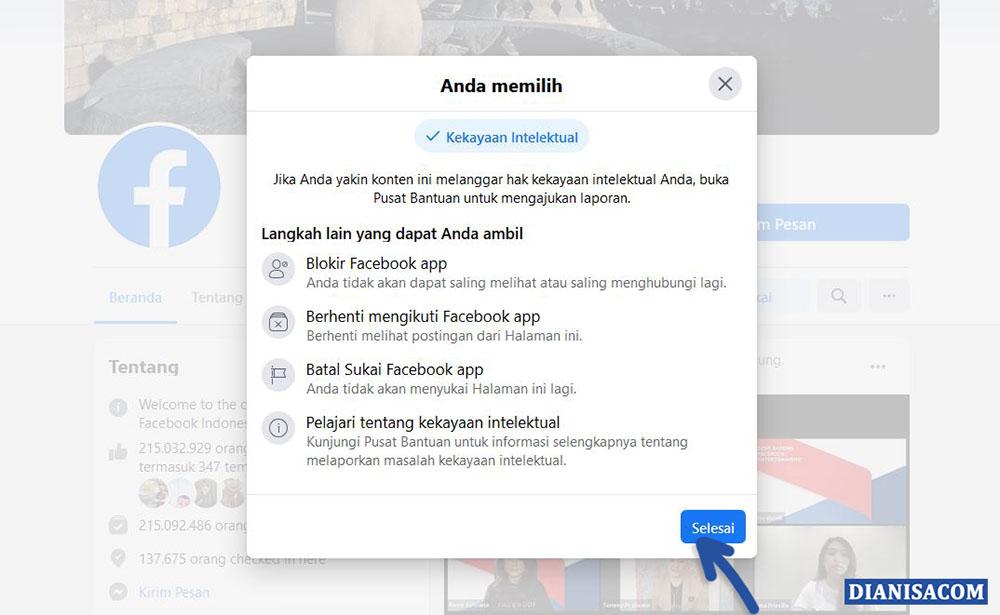 4 Cara Report Laporkan Akun Facebook Dari Pribadi Halaman Grup
