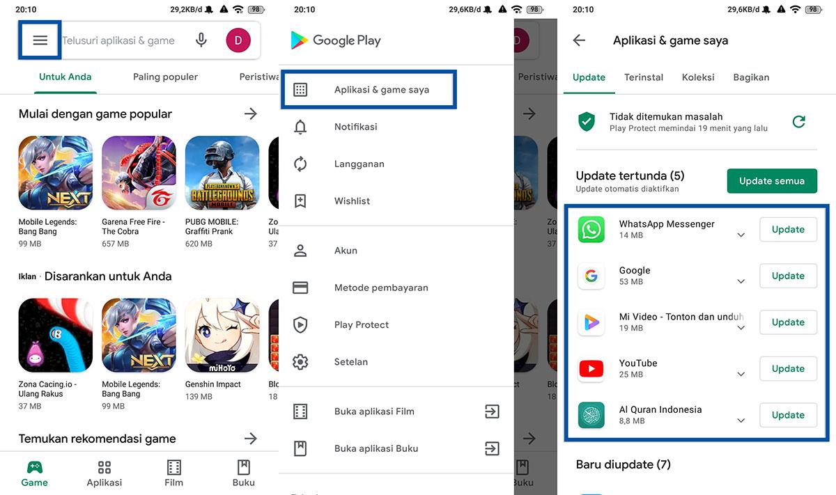 Perbarui Aplikasi Android