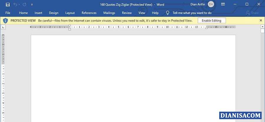 Pesan Protected View Microsoft Word