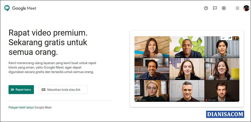 1 Daftar Google Meet