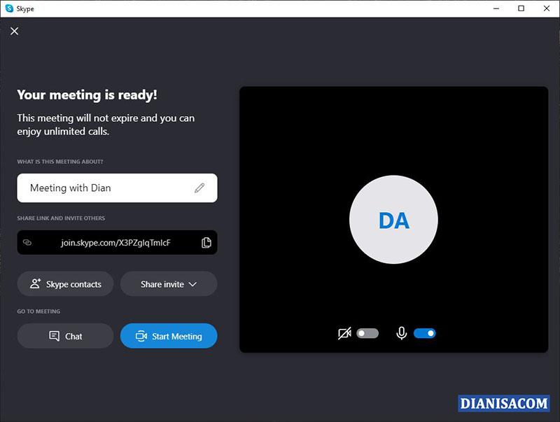 2 Mulai Meeting Skype