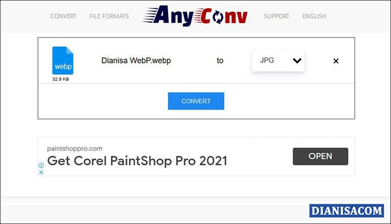 2 Ubah WebP ke JPG AnyConv