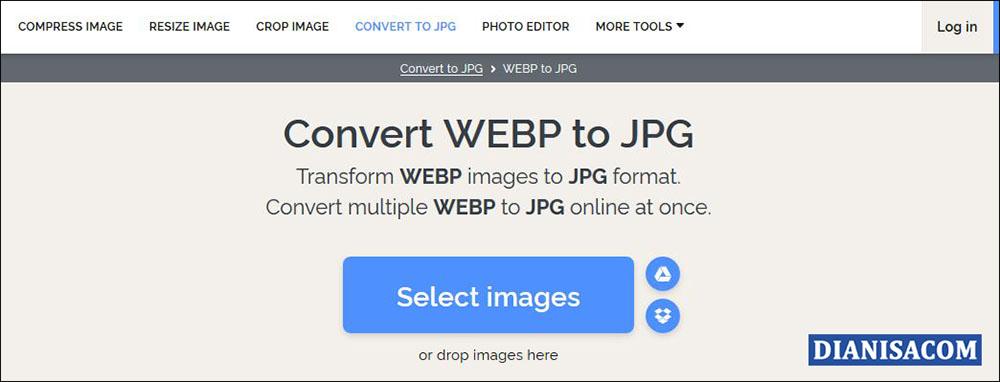 3 Konversi JPG ke WEBP Online