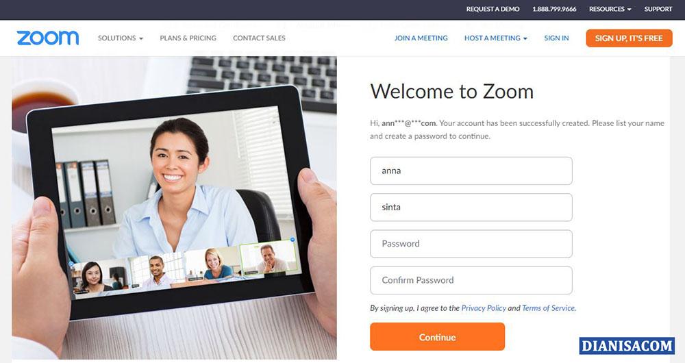 6 Masukkan Password Zoom Meeting