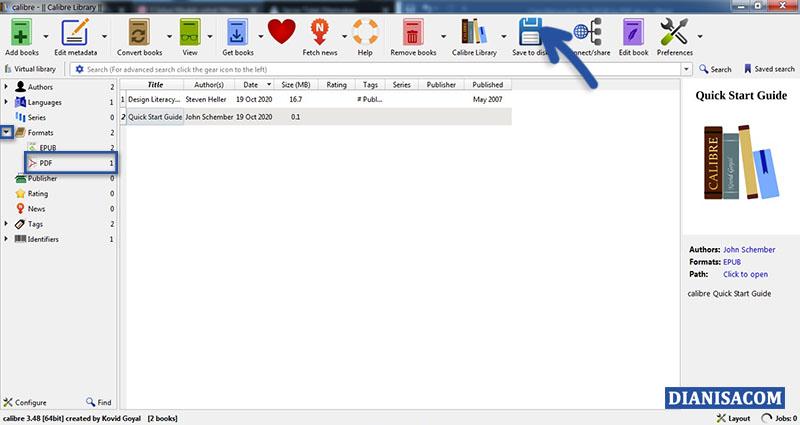 Convert EPUB ke PDF Calibre 3