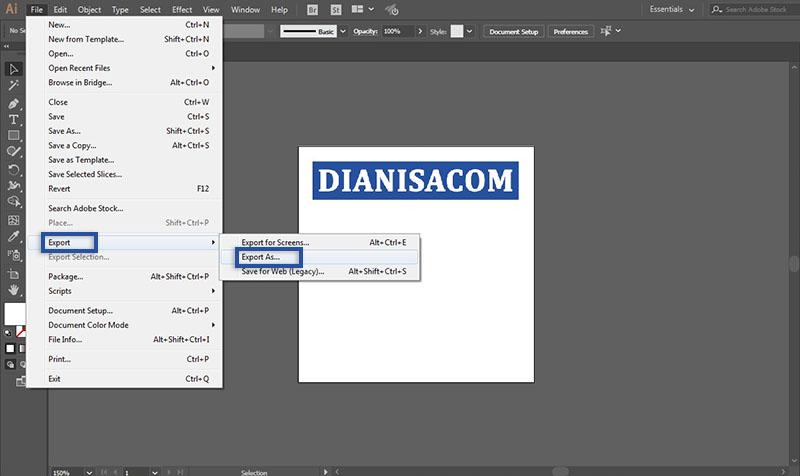 Ubah PSD ke JPG Illustrator