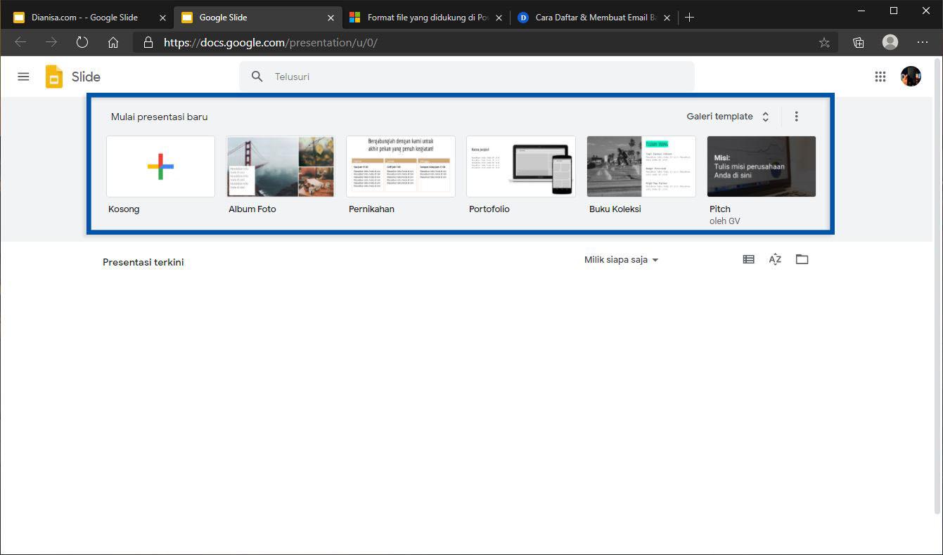 1 Membuat presentasi online Google Slides