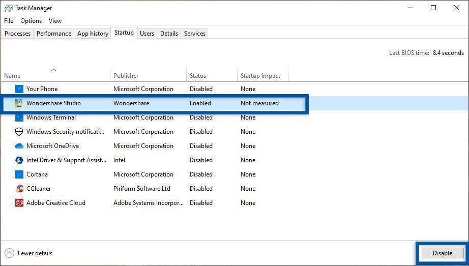 3 Disable program startup Windows 10