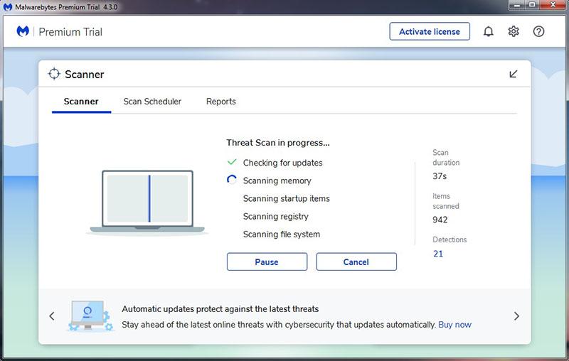4. Scan Menggunakan Malwarebytes