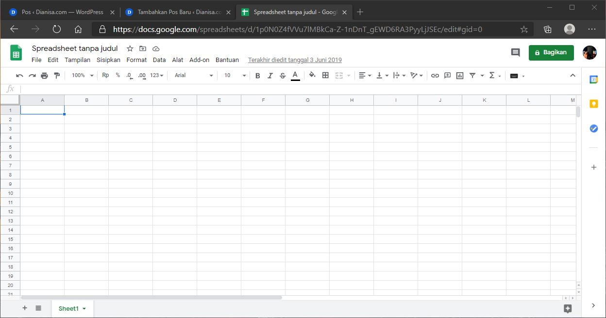 Coba Alternatif Google Sheets