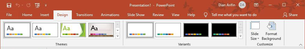 Fitur Design Microsoft PowerPoint