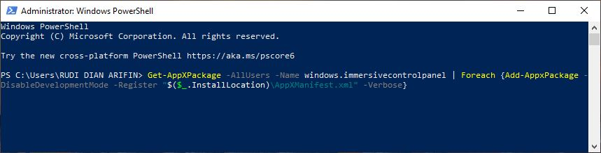 Perintah pertama Windows PowerShell