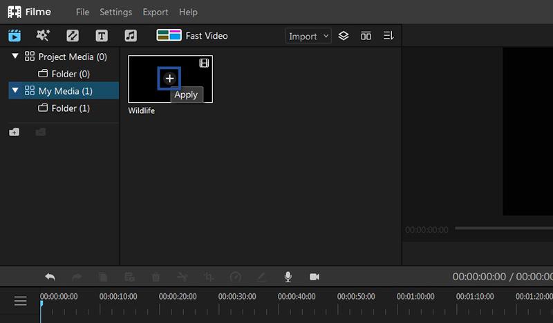Menambahkan Video ke Timeline Filme