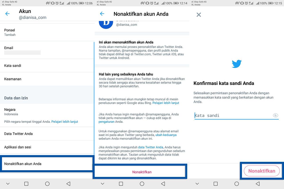 2 Menghapus Akun Twitter Android