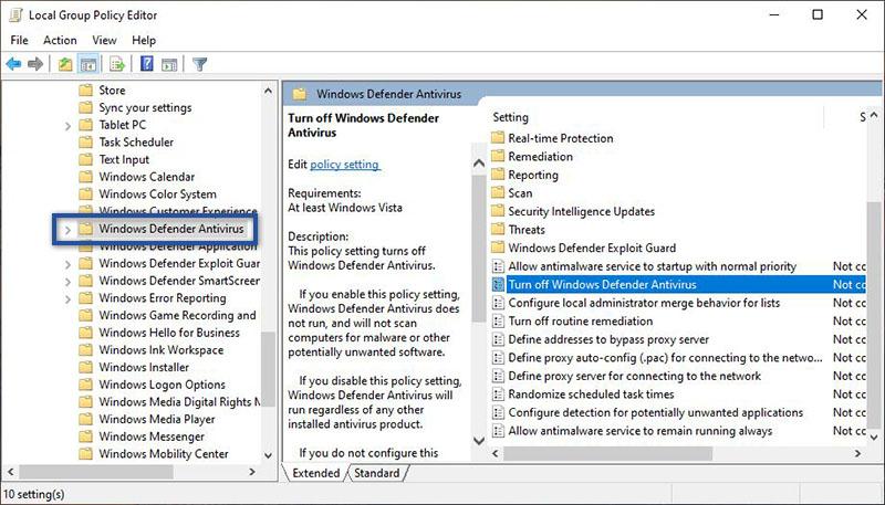 Direktori Windows Defender