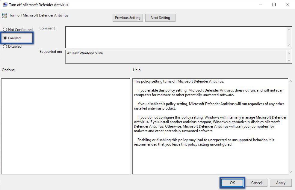 Mengubah Konfigurasi Microsoft Defender Antivirus
