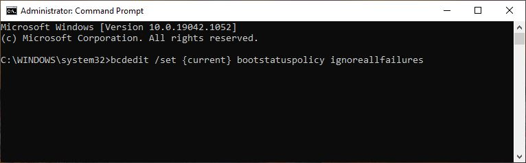 Disable Recovery Windows