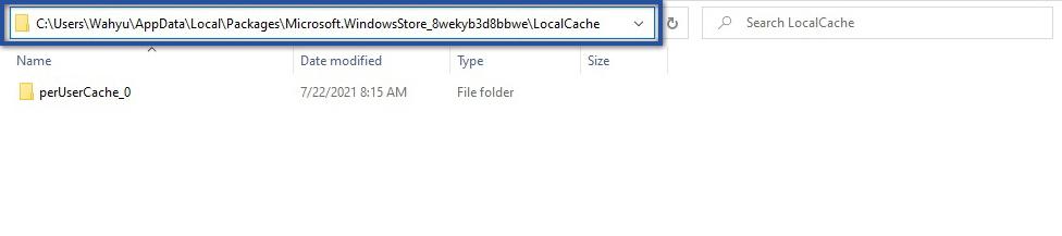 LocalCache Microsoft Store