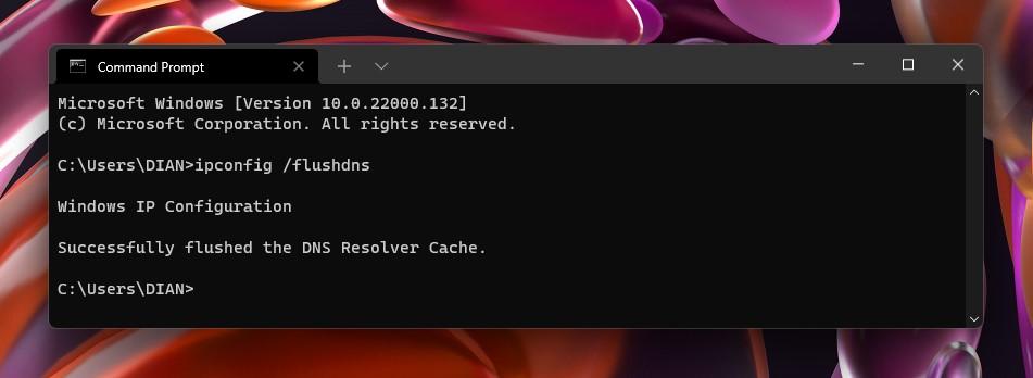 3 Hasil flushdns Windows 11