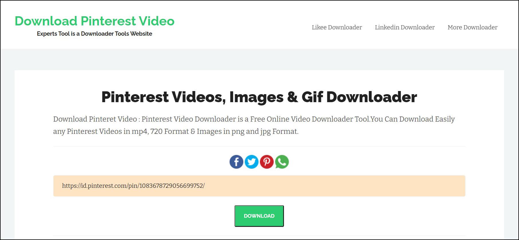 1 Buka halaman Download Pinterest Video