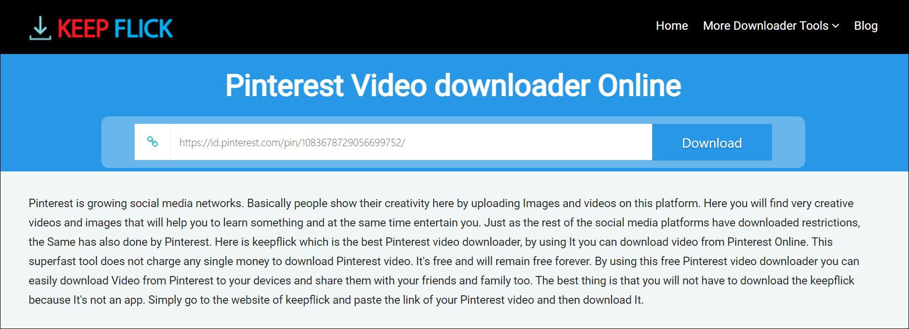 1 Buka halaman download KEEP FLICK