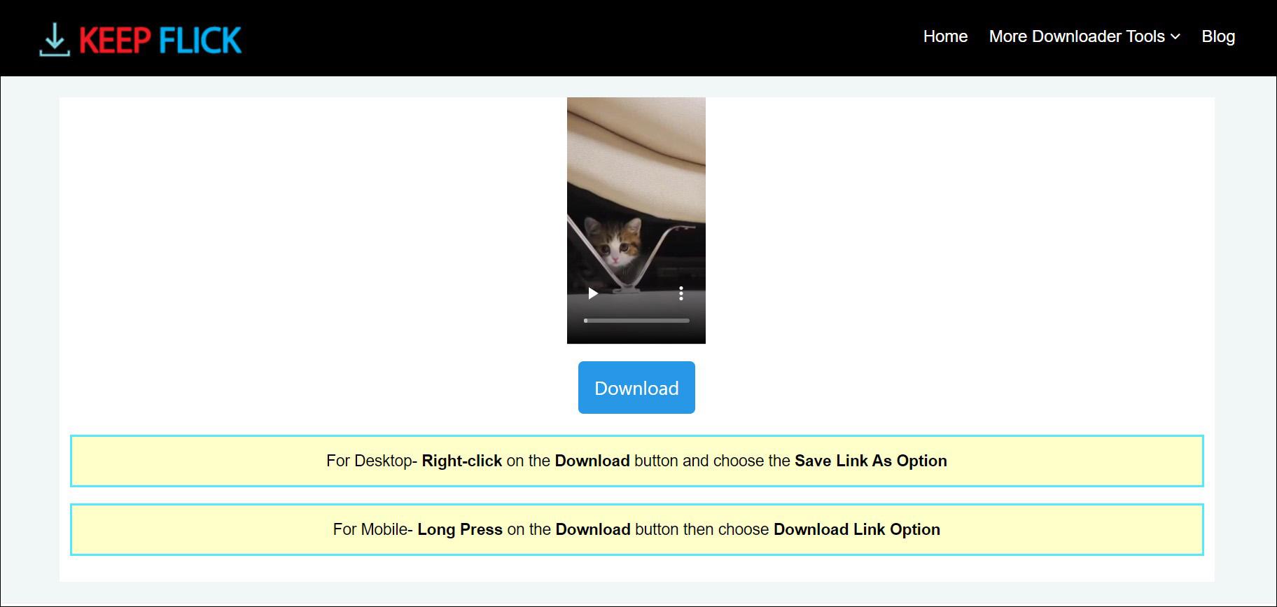 2 Download video Pinterest dari KEEP FLICK