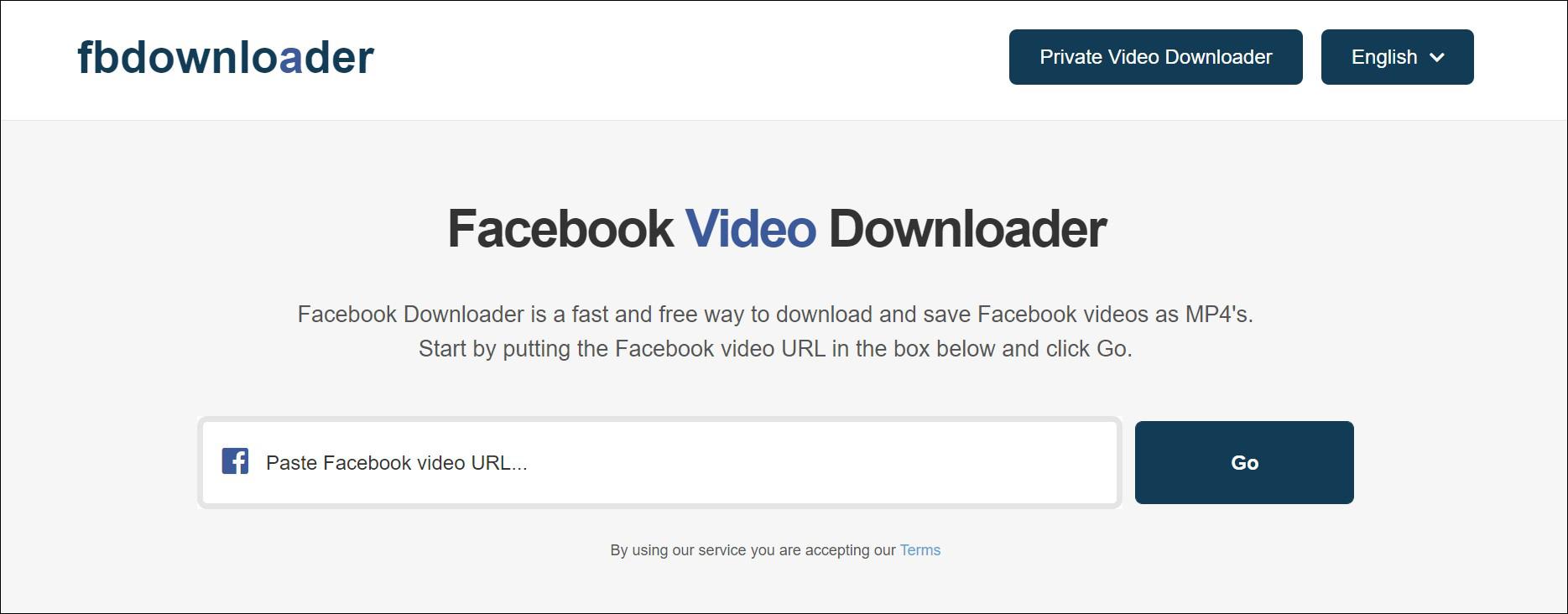 1 Buka situs FB Downloader terlebih dahulu