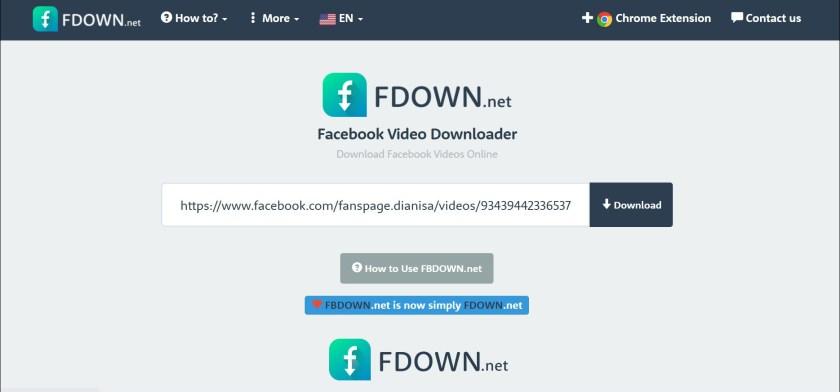 1 Buka situs FBDown
