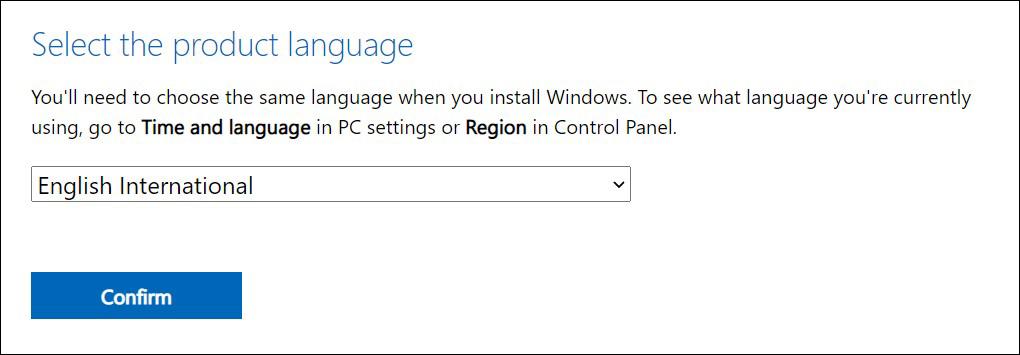 2 Pilih bahasa untuk Windows 11