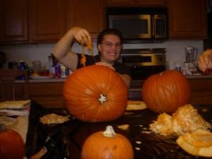 Dianna Sanchez conquers a pumpkin