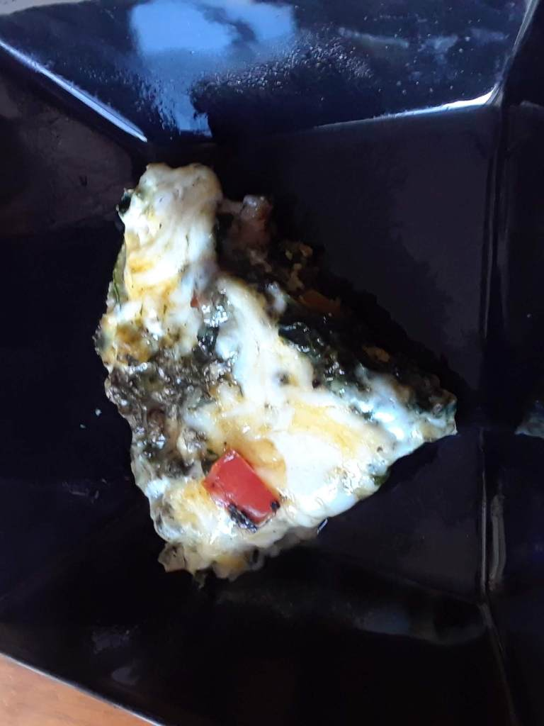 Slice of Frittata made from leftovers