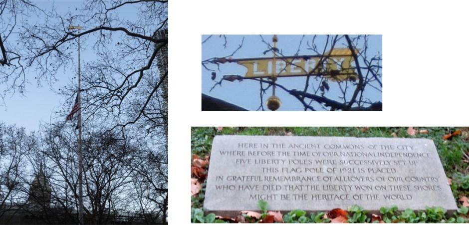 Liberty Pole in City Hall Park. Photos: Dianne L. Durante