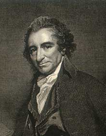 Thomas Paine William Sharp (1749–1824), Thomas Paine; engraving after a portrait by George Romney, 1793