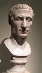 Head of Julius Caesar in the Pergamon exhibition at the Metropolitan Museum of Art. Photo: Dianne L. Durante