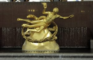 Paul Manship, Prometheus, 1934. Rockefeller Center. Photo copyright (c) Dianne L. Durante 2012