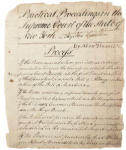 Practical Proceedings: first page of the Vechten manuscript.
