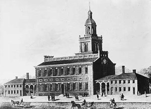 Independence Hall in the 1770s. Image: Wikipedia