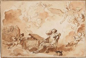 Fragonard, The Inspiration of the Artist. Private collection. Photo: MetMuseum.org