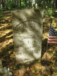 I'm glad to know that someone take care of these graves in the woods. David Junkins was just  a babe during the Revolution, but perhaps a veteran from the War of 1812.