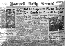 The initial newspaper article told of a UFO, but the next day another military press release reported that a weather balloon had crashed.