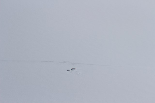 In the heart of the ice fields, Japanese scientists who had been conducting research were stuck on the ice fields two weeks after their departure date due to bad weather. The scientists had just been flown out that morning.