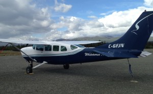 The plane was waiting at Haines Junction airport.