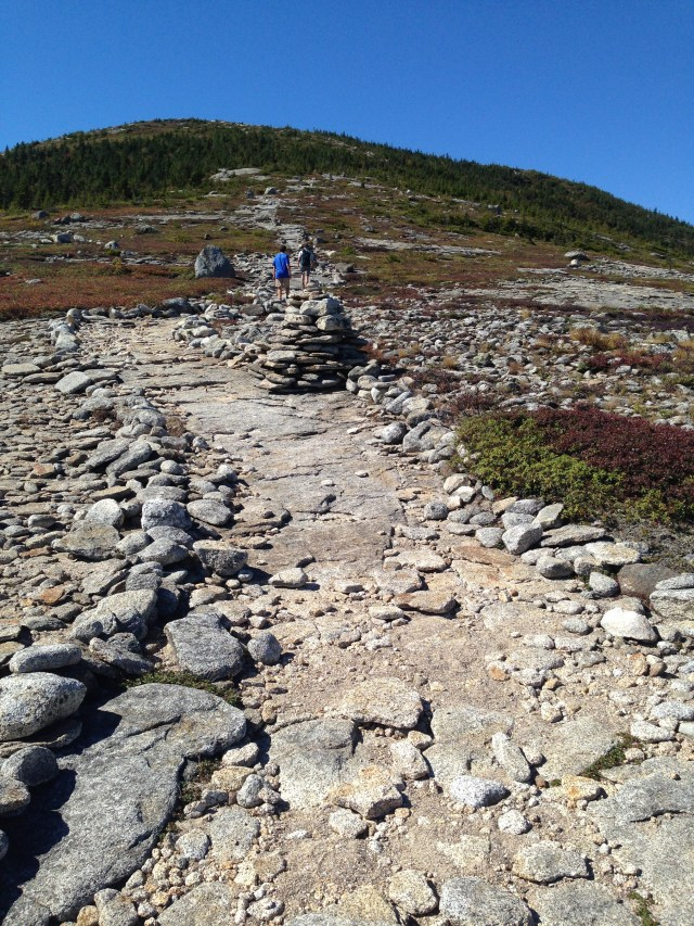 The trail up to South Baldface looks Presidential, minus the weekend crowds.